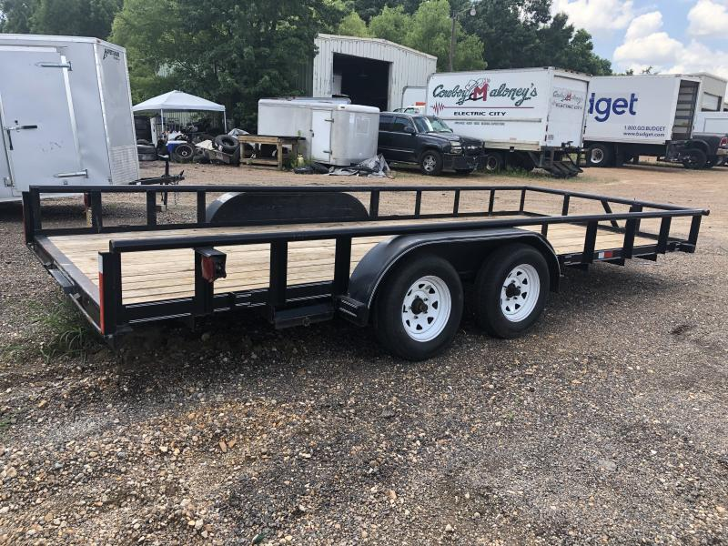 "USED 2012 Texas Bragg 83"" x 18' Utility Trailer"