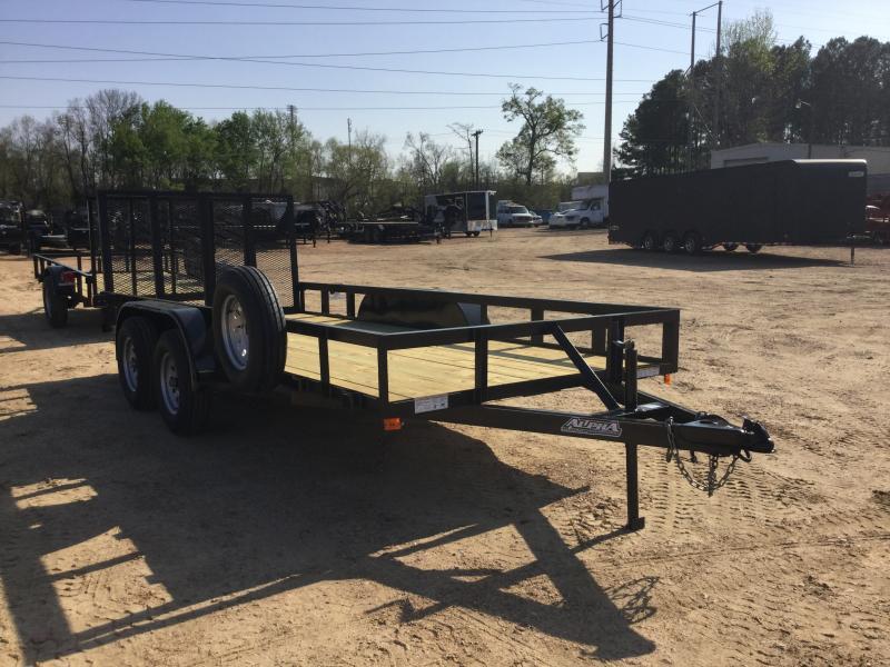 2018 Capstone 6.4 x 16 Tandem Axle Angle Top Utility Trailer