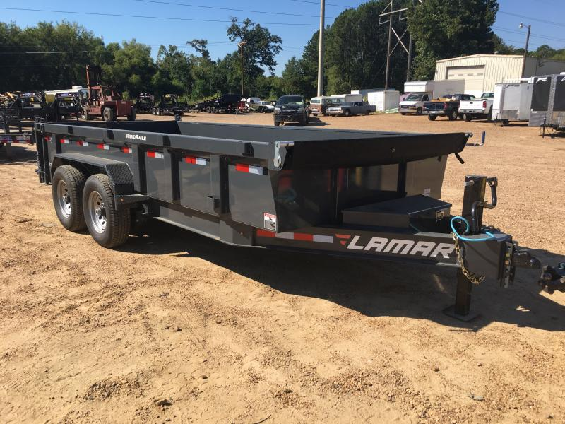 "2018 Lamar Trailers 83"" x 16' Low-Pro Dump 14k GVWR"