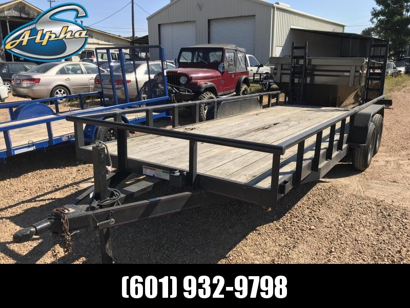 Used 2011 Equipment Hauler w/ Stand Up Ramps
