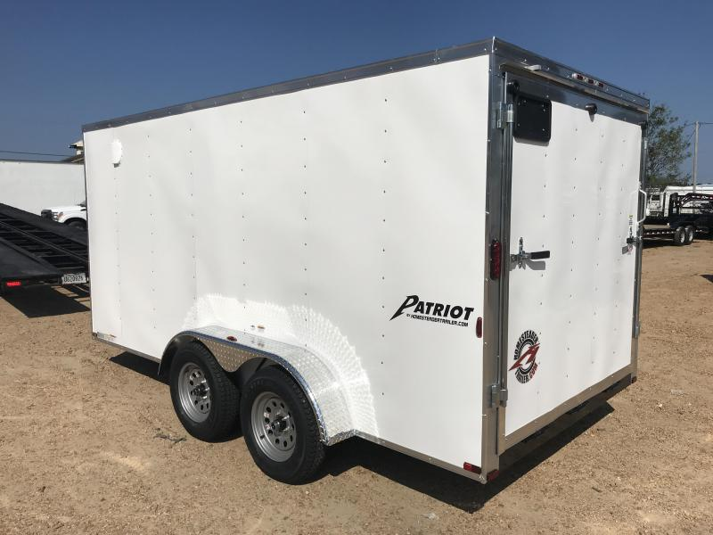 New 2019 7 x 14 Tandem Axle Enclosed Cargo Trailer