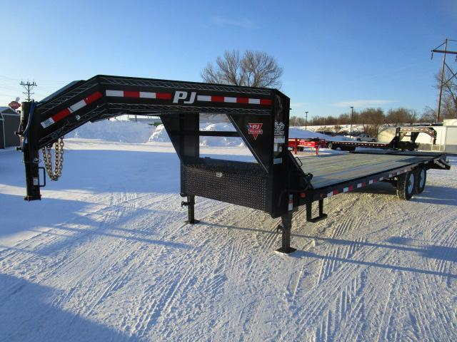 2019 PJ Trailers 26' Low-Pro Flatdeck with Singles Trailer