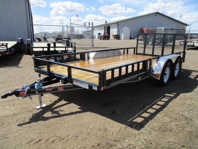 "2020 PJ Trailers 16'x83"" Tndm Axle Channel Utility Trailer"