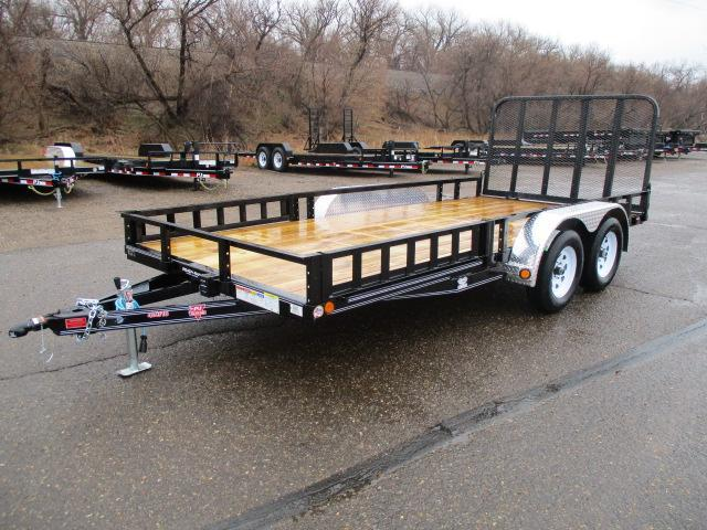 "2019 PJ Trailers 16'x83"" Tndm Axle Channel Utility Trailer"