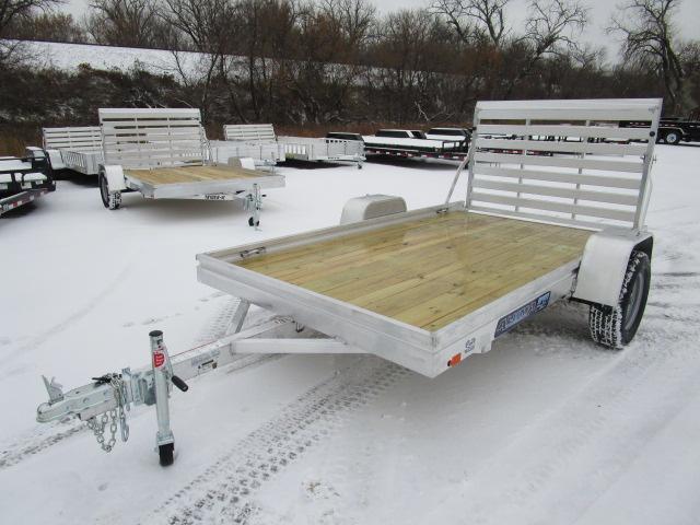 2018 Aluma 6810 Edge Series Wood Deck Utility Trailer