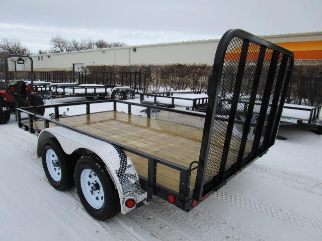 "2019 PJ Trailers 12'x83"" Tndm Axle Channel Utility Trailer"