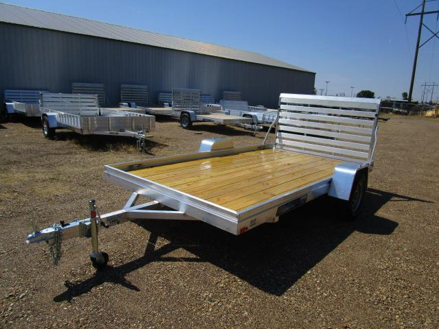 2019 Aluma 7812 Edge Series Wood Deck Utility Trailer