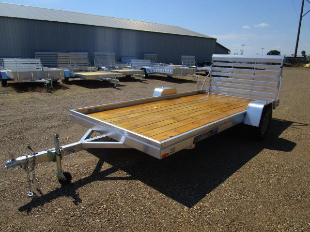 2019 Aluma 7814 Edge Series Wood Deck Utility Trailer in ND
