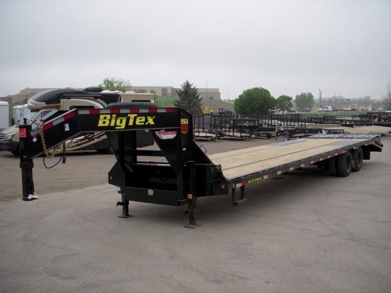 2019 Big Tex Trailers 22GN-30BK+5MR Flatbed Trailer