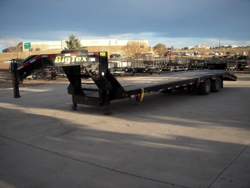 2012 Big Tex Trailers 25GN-25BK+5KR Flatbed Trailer