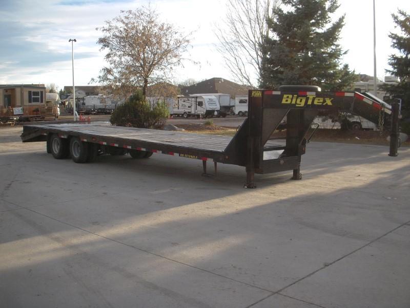 2012 Big Tex Trailers 25GN-25BK+5KR Flatbed Trailer