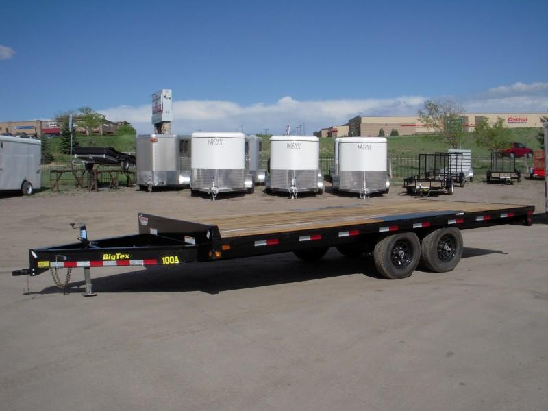2018 Big Tex Trailers 10OA-18BK-8SIR Flatbed Trailer
