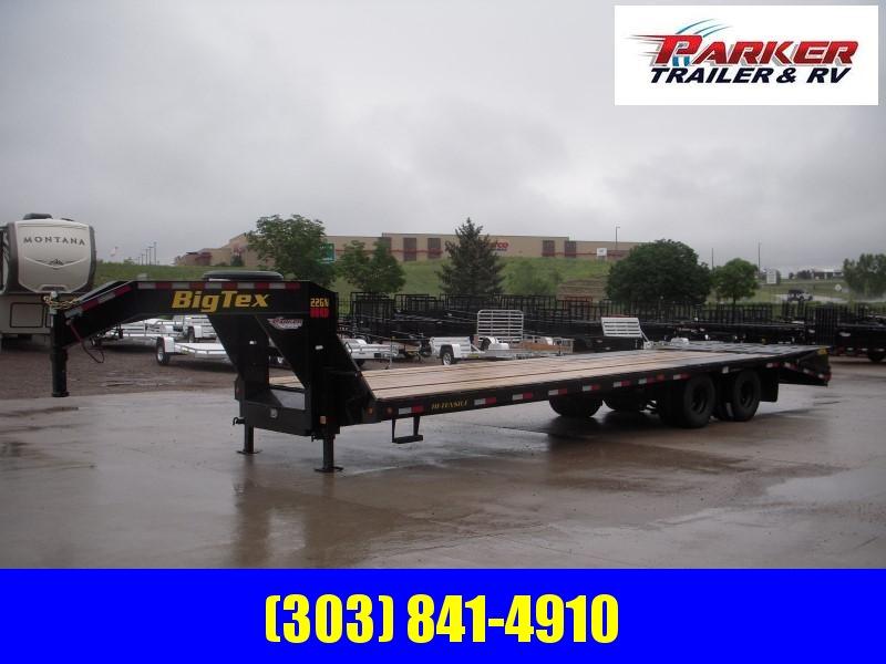 2020 Big Tex Trailers 22GN-25BK+5MR Flatbed Trailer