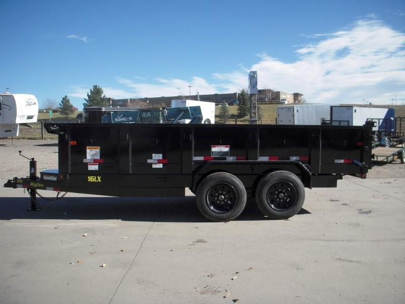 2018 Big Tex Trailers 16LX-16BK7SIRPD Dump