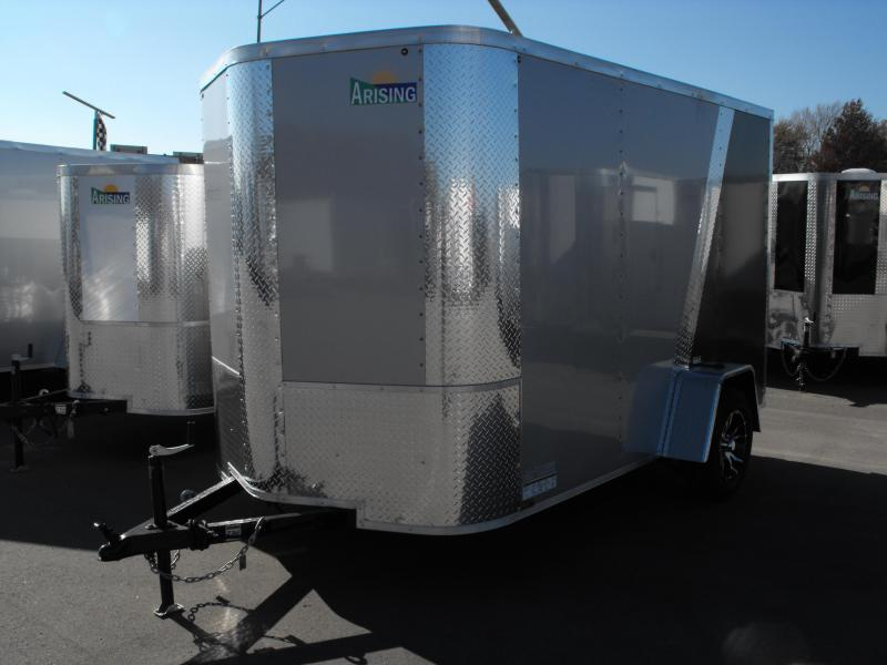 Enclosed Trailer 6 X 10 Ramp TWO TONE COLOR Silver/Charcoal ALL TUBE Construction