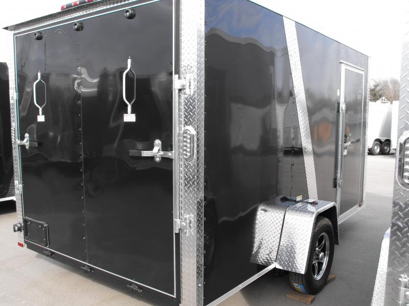 Enclosed Trailer 7 X 12 Ramp Two Tone Color Charcoal/Black Tube Construction