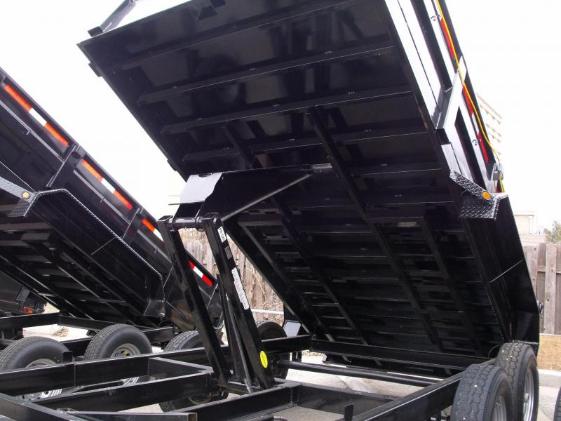 Dump Trailer 83 X 14 Combo Gate 14000 GVW  Ramps