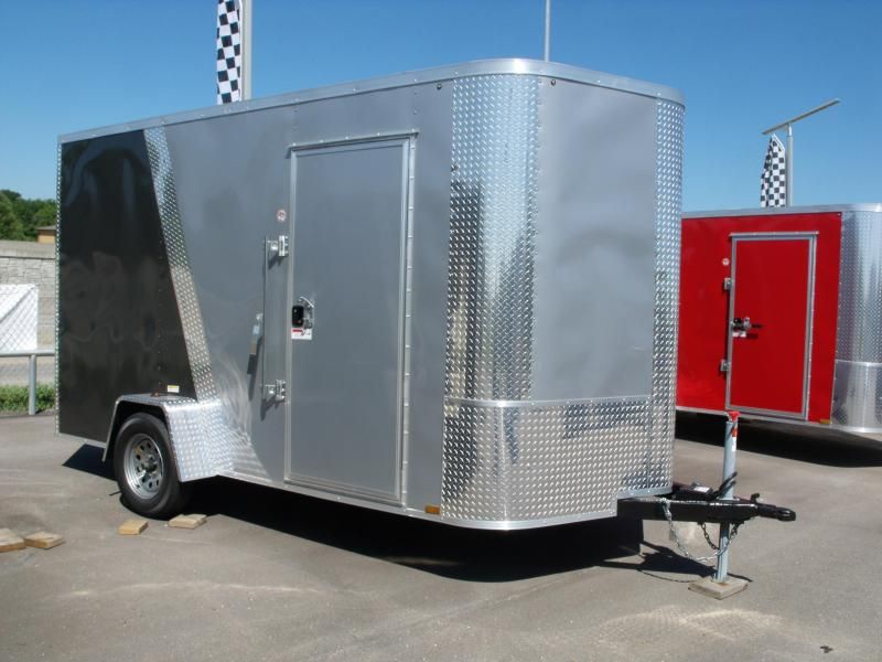 Enclosed Trailer 7 X 12 Ramp 7' Height Two Tone Color White/Med Charcoal Tube Construction in Ashburn, VA