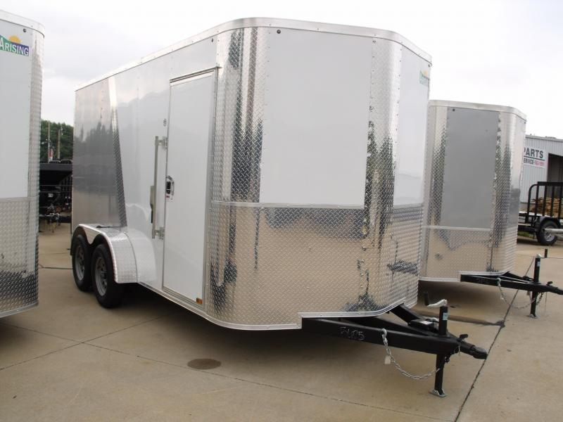 Enclosed Trailer 7 X 14 Ramp 7' Interior Height Color White Front/Silver Mist Rear Rear ALL Tube Construction in Ashburn, VA