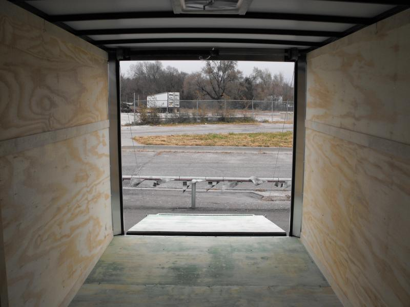 "Enclosed Trailer 7 X 14 Ramp Two/Tone White Silver 7000 GVW ALL TUBE Construction 6' 6"" Interior"