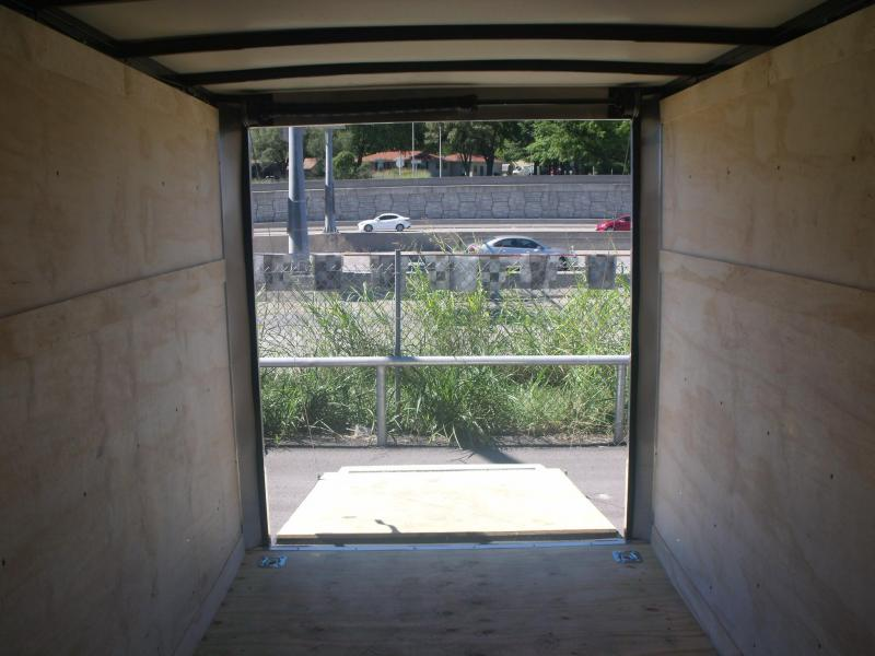 "Enclosed Trailer 6 X 12 Ramp Tube Construction ALL Tube Construction 6' 3"" Height"