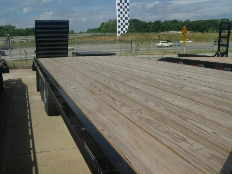 Goose Neck Deck Over Trailer Equipment 102 X 25 Combo Ramps