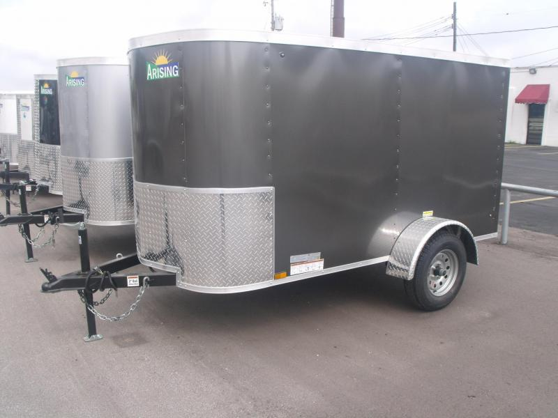 Enclosed Trailer 4 X 8 Barn Door  Med Charcoal In Color