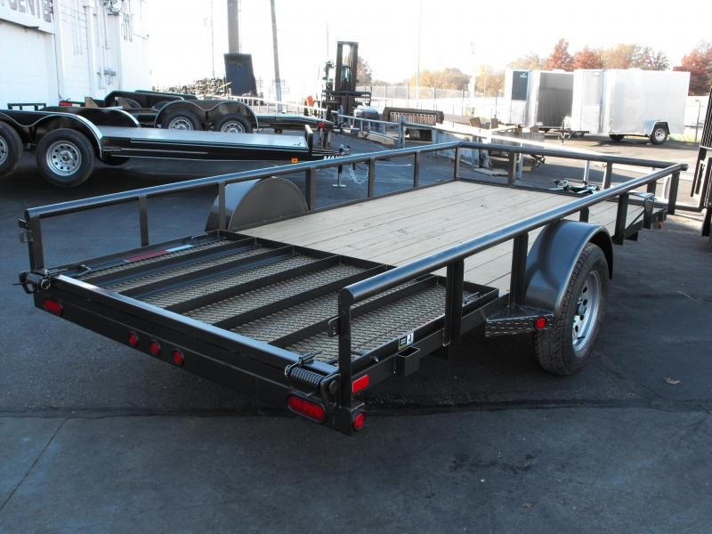 Utility Trailer/ATV Trailer 77 X 14 Front & Rear Folding Gate 2990 Axle MAXXD