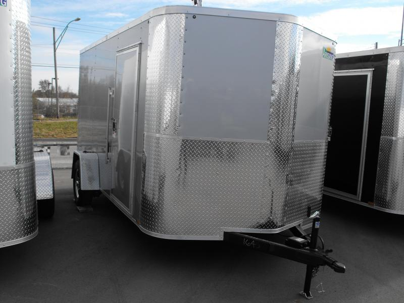 "Enclosed Trailer 7 X 12 Ramp 6' 3"" Interior Silver Mist In Color ALL TUBE Construction"