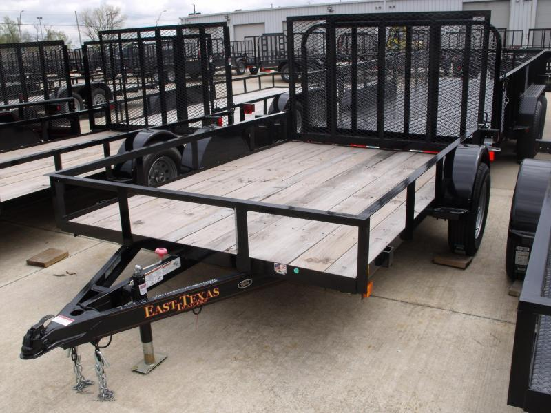 Utility Trailer 77 X 10  Ramp 2990 Axle East Texas