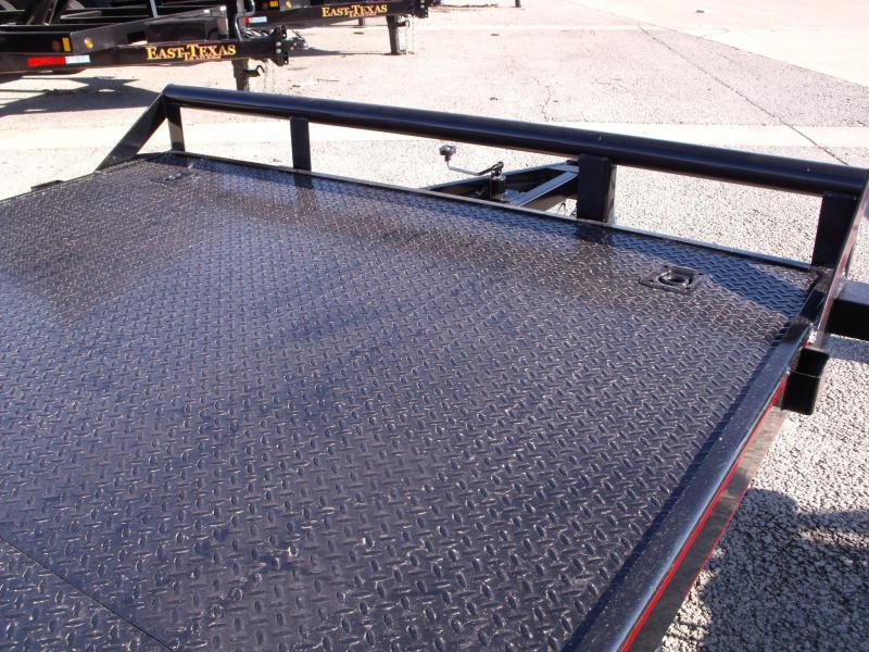 Car Hauler 83 X 18 Dove  Metal Deck 7000 GVW Slide Out Ramps Covered With Number 6 Mesh No Spinning Tires Here