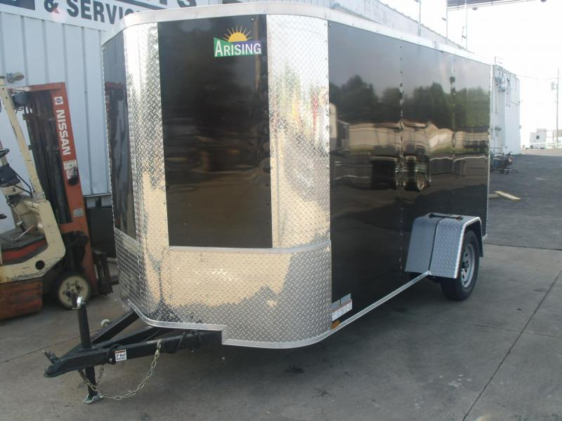 Enclosed Trailer  6 X 12 Ramp Black All Tube Construction