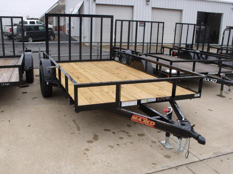 Utility Trailer 77 X 10 Front & Rear Folding Gate 2990 Axle MAXXD