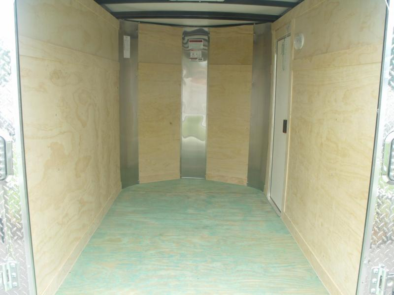 """Enclosed Trailer 5 X 8 Ramp Silver In Color  ALL Tube Construction 5' 6"""" Height"""