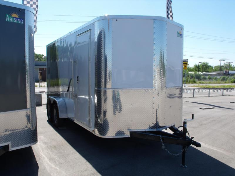 Enclosed Trailer 7 X 16 Ramp 7' Interior Height  White/ Medium Charcoal In Color ALL Tube Construction in Ashburn, VA