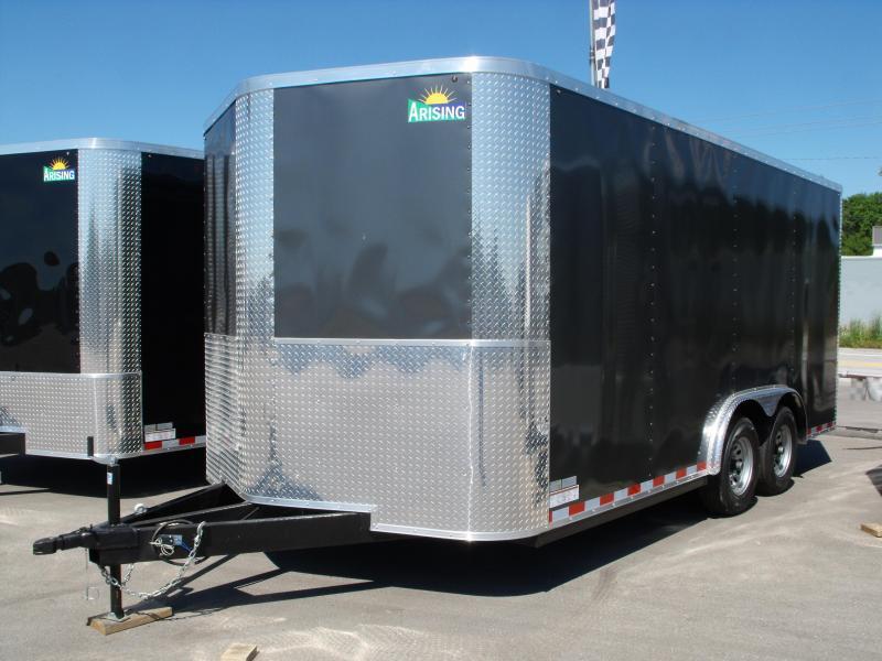 "Enclosed Trailer 8.5 X 16 Ramp   6' 6""  Interior 10400  GVW ALL TUBE Construction  4 Wheel Brakes"