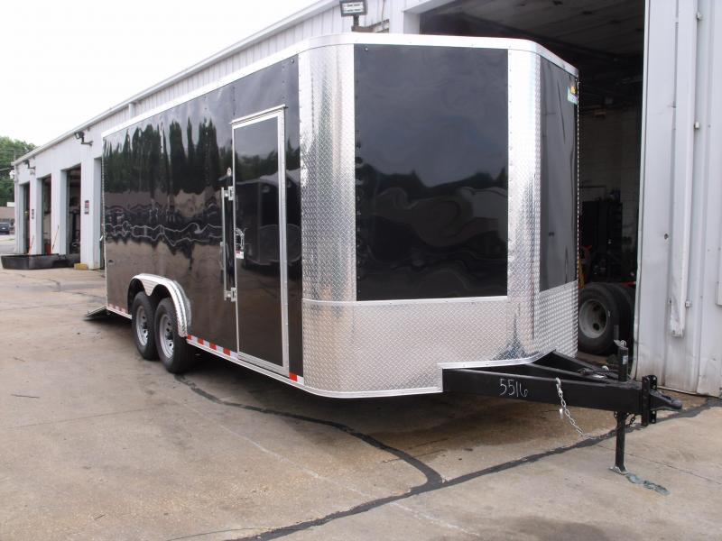 Enclosed Trailer 8.5 X 18 Dove Tail With  Ramp 14000 GVW 7' Height Razor Trailer ALL TUBE Construction Black In Color