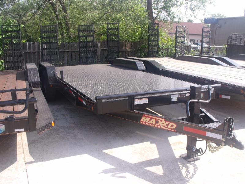 Car Hauler Equipment Trailer 83 X 20 Metal Deck 14K Combo Ramps