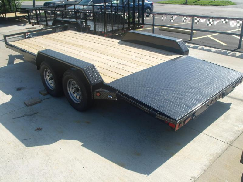 Car  Hauler   83 X 18 Metal Dove 7000 GVW  Hauler Car 4 Wheel Brakes
