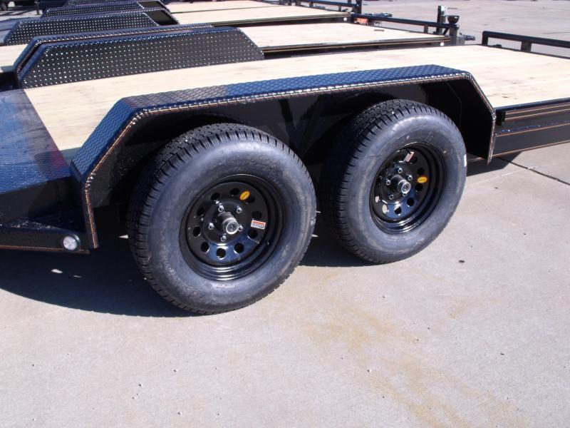 Car Hauler 83 X 20 Steel Dove Tail 7000 GVW 4 Wheel Brakes