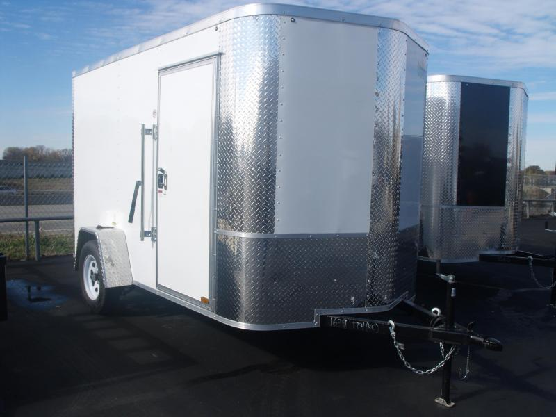 "Enclosed Trailer 6 X 10 Ramp 6' 3"" Interior Height  White In Color ALL Tube Construction"