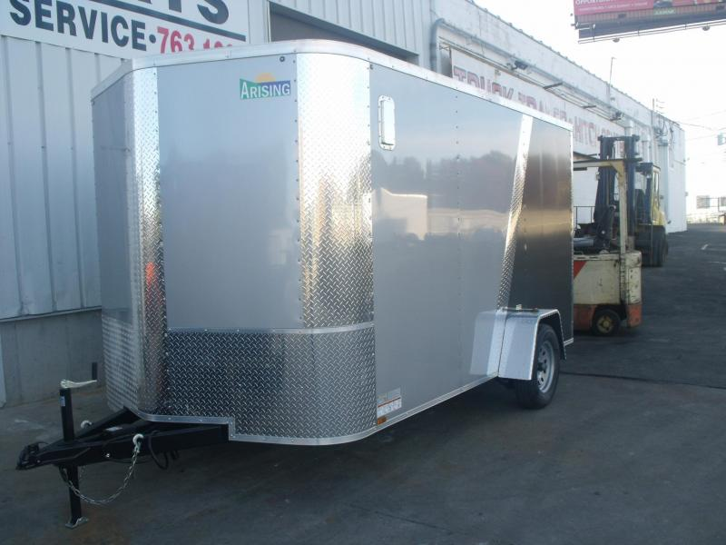 Enclosed Trailer 7 X 12 Ramp Silver Mist Two Tone ALL Tube Construction