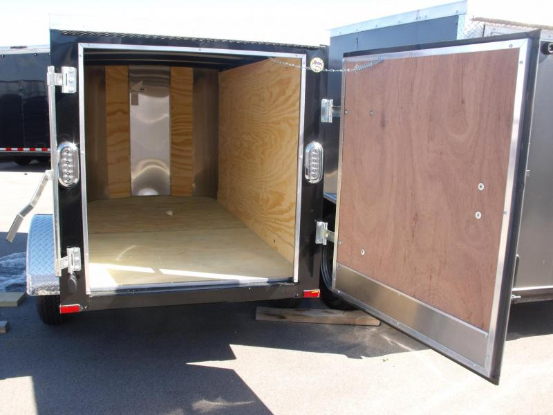 Enclosed Trailer 4 X 8 Barn Doors 2000# Axle BLACK  IN COLOR