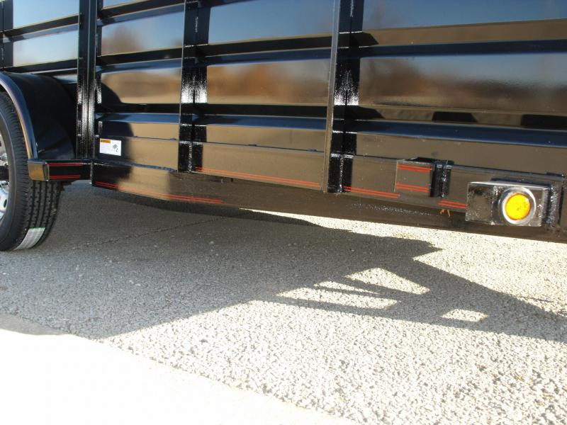 High-Wall Trailer  77 X 12   Pipe Rail Top  Soothe Sides Ramp  2990 # Axle