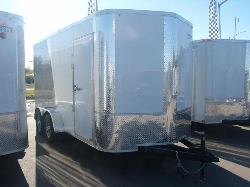 Enclosed Trailer 7 X 14 Ramp 7' Interior Two Tone  ALL Tube Construction