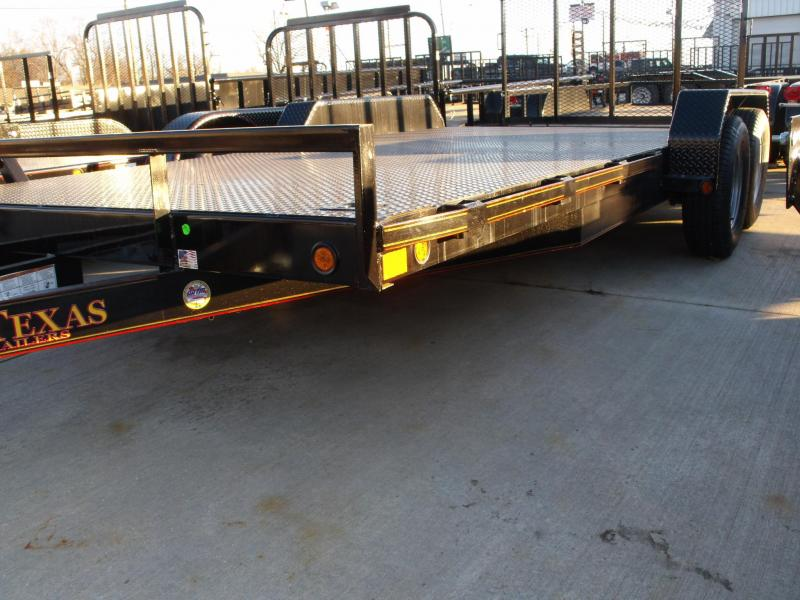 83 X 18 Metal Deck Car Hauler 7000 GVW 4 WL Brakes Ramps