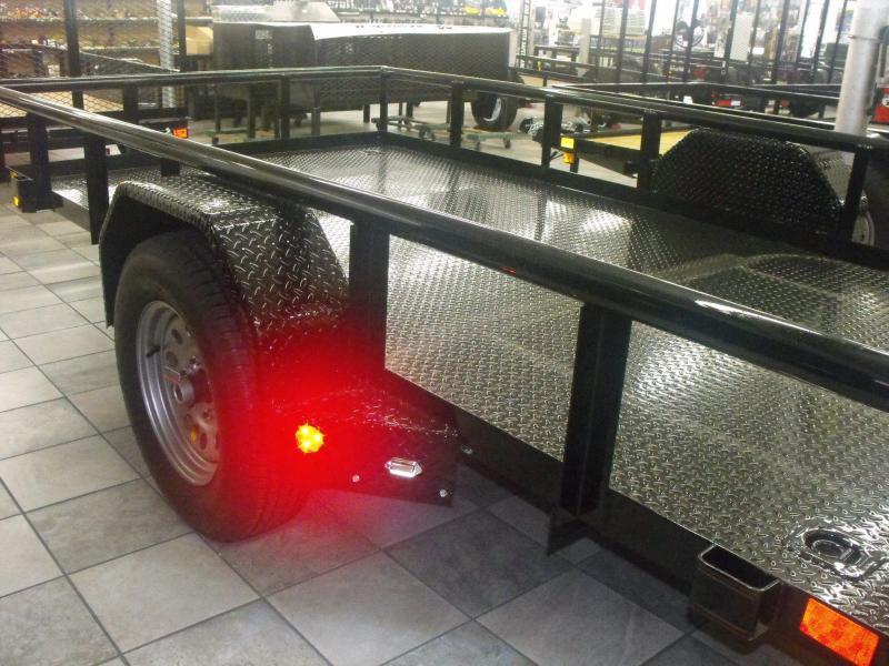 Utility Trailer 77 X 12 Metal Deck Ramp LED Lights Premium Trailer