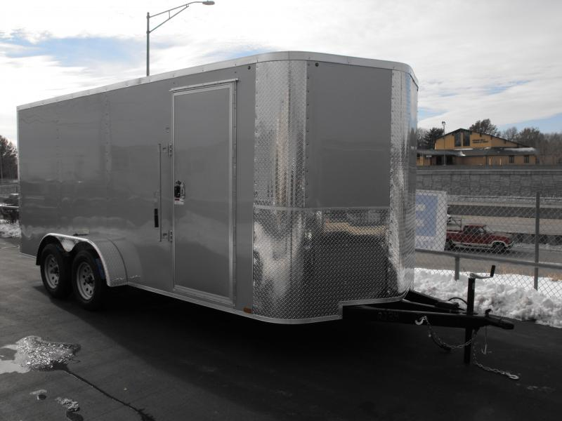 "Enclosed Trailer 7 X 16 Ramp 6' 6"" Interior ALL TUBE Construction"