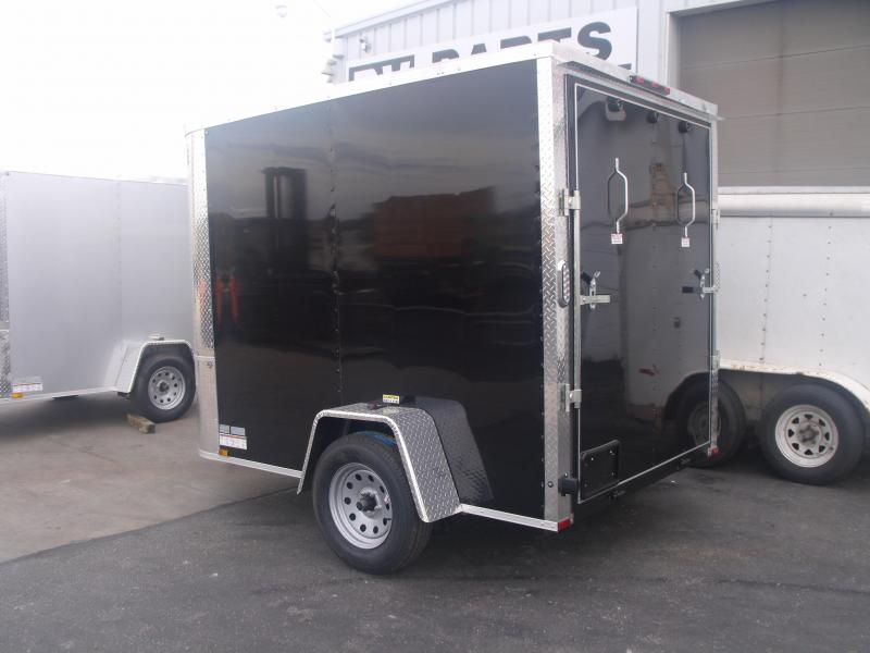 "Enclosed Trailer 6  X 8 Ramp ALL Tube Construction 6' 3"" Interior Height Black In Color"