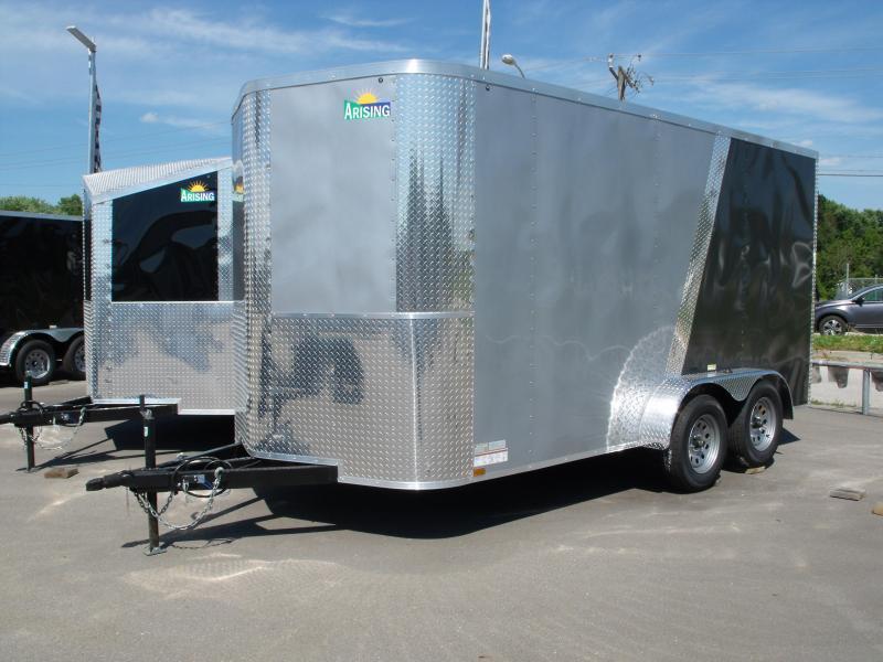 Enclosed Trailer 7 X 14 Ramp 7' Interior Height Medium Silver Front/Charcoal Rear ALL Tube Construction in Ashburn, VA